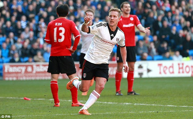 Temporary: Holtby has impressed for Fulham despite their poor Premier League position