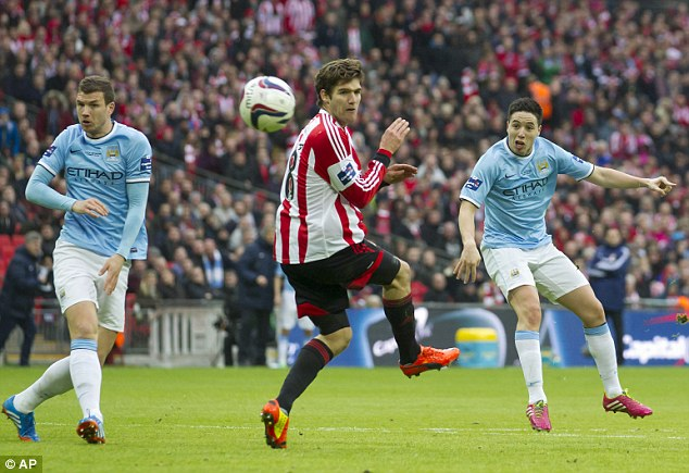 Wembley bound: Sunderland reached the Capital One Cup final before losing 2-1 to Manchester City