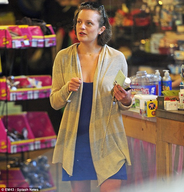 Lucky feline: Elisabeth headed into a West Hollywood pet store to get some treats for her pet