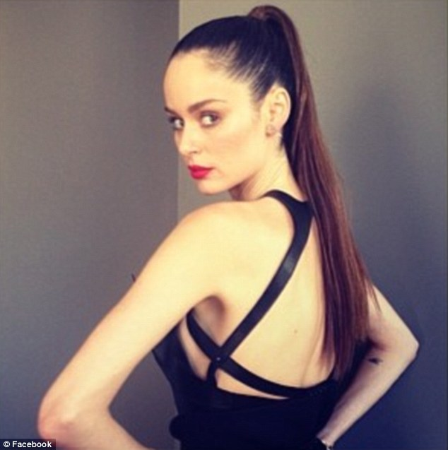 From the back: The 27-year-old has all angles covered giving photographers a glance at her back straps