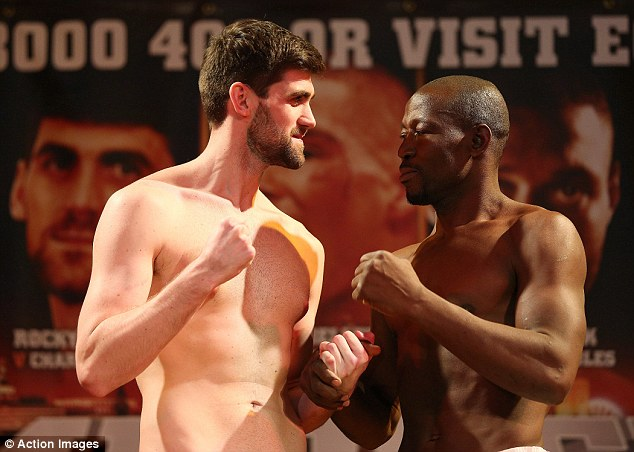 Heavy: Rocky Fielding (left) lost his Commonwealth super-middleweight title on the scales