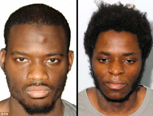 Michael Adebolajo (left) and Michael Adebowale (right) who were convicted of murdering Fusilier Rigby