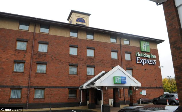 Theft: The Holiday Inn Express in Oldbury, West Midlands, where on November 6, 2103 Amy Sanders with Adam and Karl Tookey entered the hotel at 12.30pm and grabbed the charity box from the front desk and fled