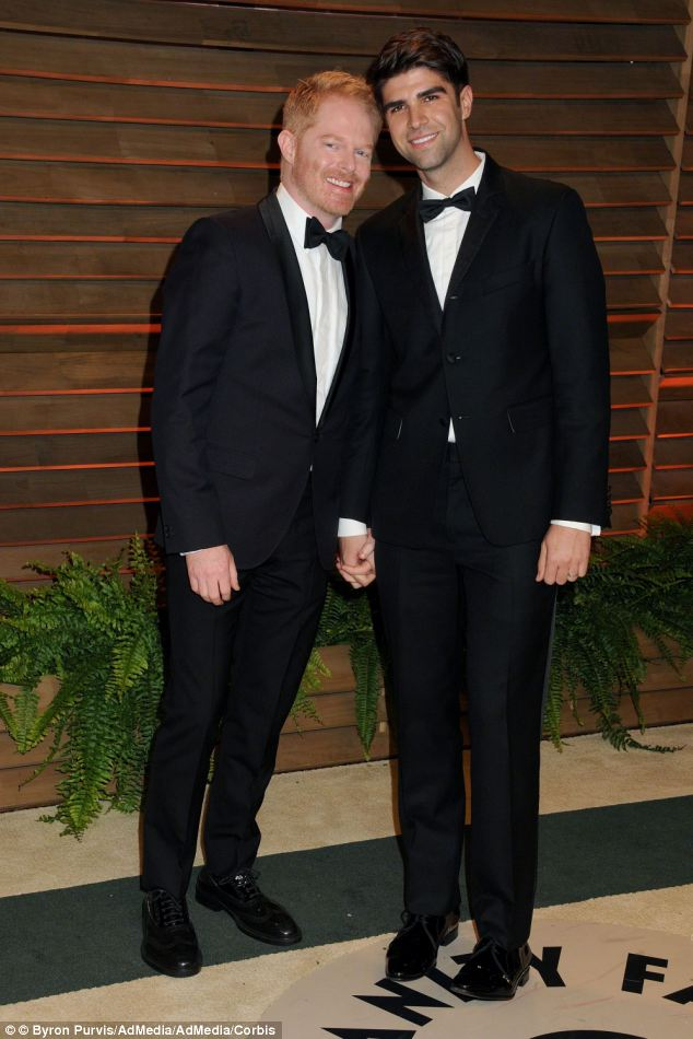 Tie The Knot! Jesse Tyler Ferguson and husband Justin Mikita, at this years Vanity Fair Oscars Party, got married in 2013