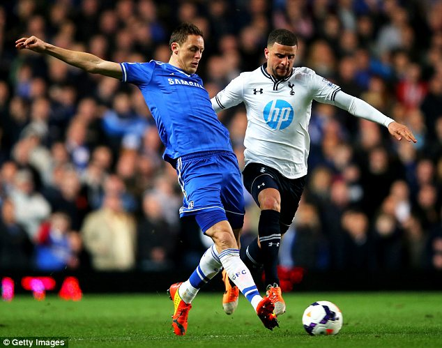 Risk: Kyle Walker has been playing through the pain barrier for Tottenham