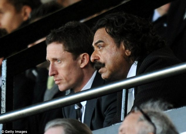 Boost: Fulham owner Shahid Khan was in the stands to see the much-needed victory