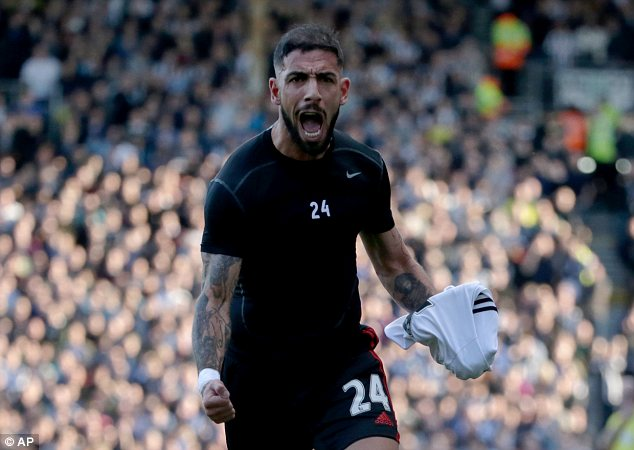 Roar of delight: Fulham's Ashkan Dejagah celebrates his goal against Newcastle