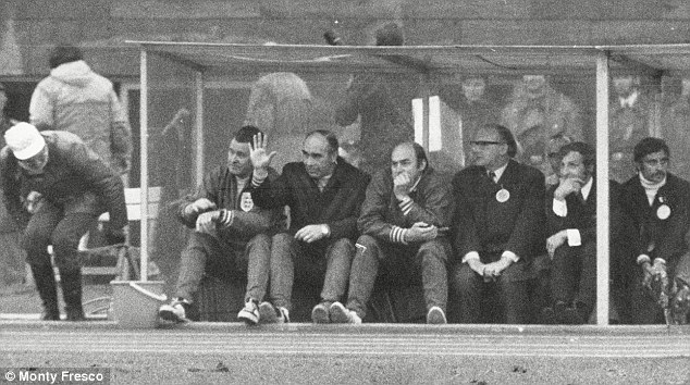 Controlled: Sir Alf Ramsey stayed calm in the dugout and let his players get on with the game