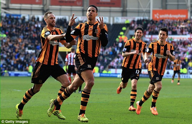 International class? There has been some clamour for Hull's Curtis Davies (second left) to join England's World Cup squad