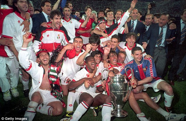 Long time ago: AC Milan beat Barcelona in 1994 to win the European Cup