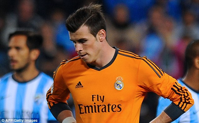 Assist: Bale set up Ronaldo for Madrid's winning goal at the Rosaleda Stadium
