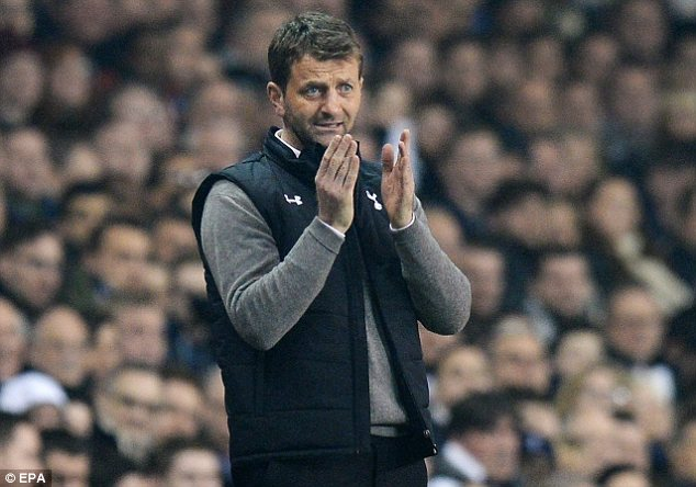 Concern: Tottenham manager Tim Sherwood will consult medical staff