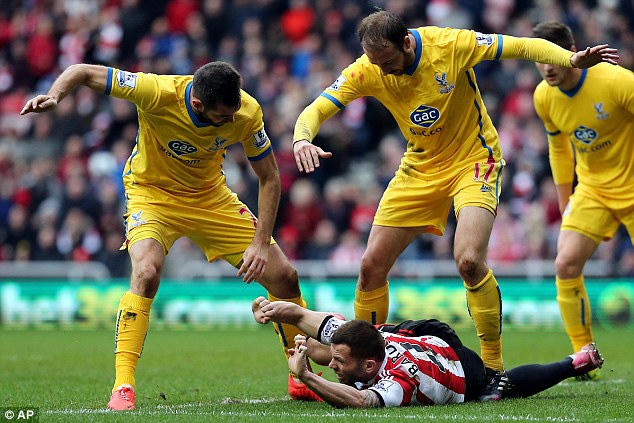 Stalemate: Crystal Palace were held to a 0-0 draw at the Stadium of Light on Saturday