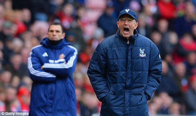 Short stay? Palace boss Tony Pulis could be replaced by current Newcastle boss Alan Pardew