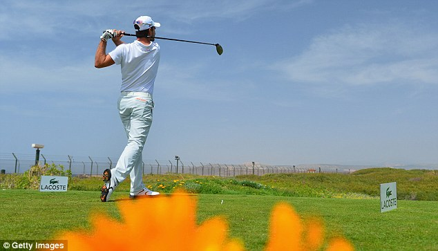 On the verge: Alejandro Canizares is closing in on victory in the Trophee Hassan II Golf