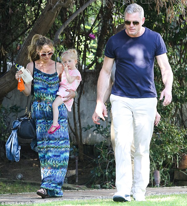 The adorable family! Rebecca Gayheart and her husband Eric Dane enjoyed a day out in the sun with their young daughter Georgia