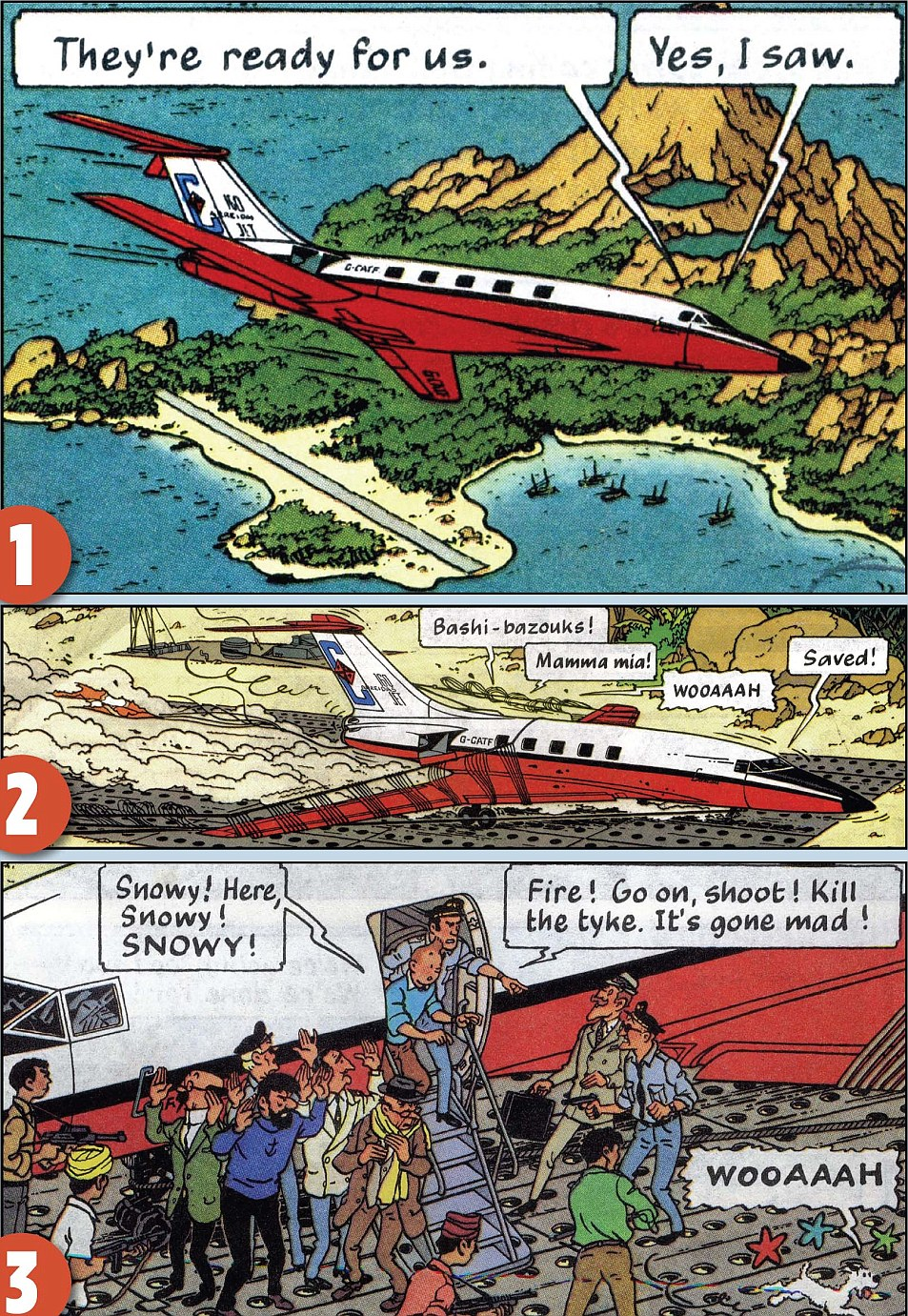 Similar: A Tintin plot line about a disappearing jet