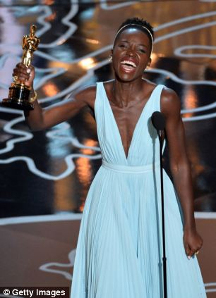 Winner: Lupita Nyong'o, pictured at the Oscars, won both awards and critical praise for her performance as Patsey