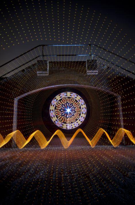 Dazzling objects: Light artist Ian Hobson's work entitled Rural Railway