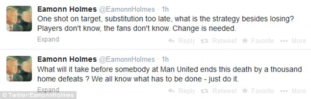 Dig: TV presenter and Manchester United fan Eamonn Holmes had his say on the situation