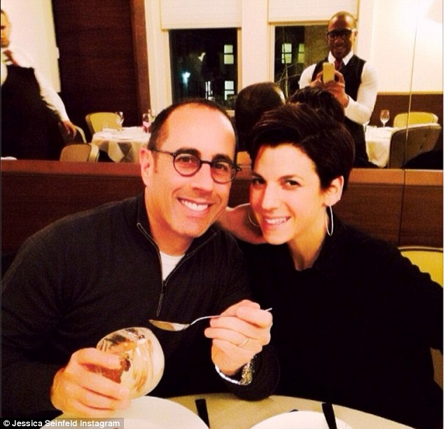 Manga: The Curb Your Enthusiasm star and spouse at Ristorante Morini in NYC which Jessica said they were 'smitten' with