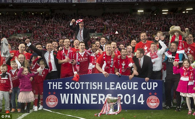 Finally! Aberdeen ended a 19-year wait for silverware by defeating Inverness 4-2 on penalties