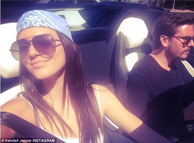 Just hanging out!  Kendall soaked up the Los Angeles sunshine with her sister Kourtney Kardashian's boyfriend on Sunday