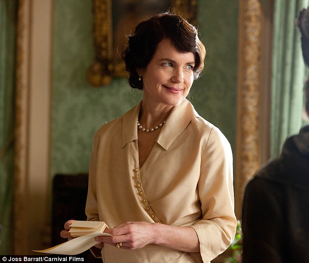 Quite the difference: Elizabeth is more known for her period look in the ITV drama