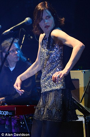 Grooving: The actress and singer threw some shapes on the London stage