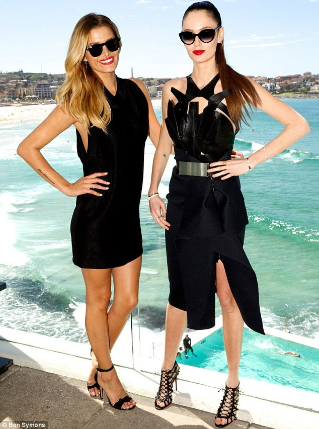 Beautiful! And the view's not bad either: The Face judges Cheyenne and Nicole at Sydney's Bondi Beach ahead of the premiere of The Face on March 18