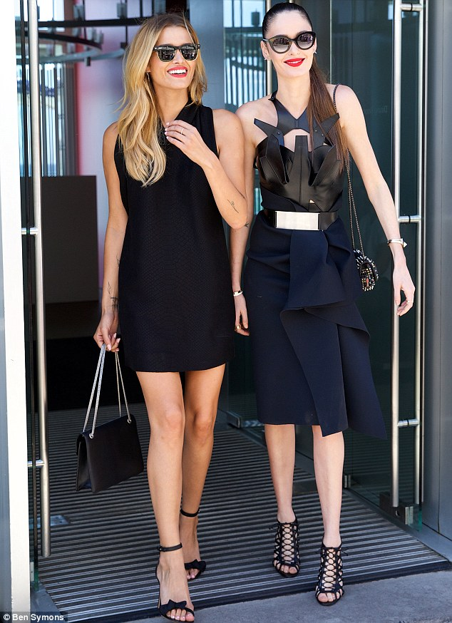 Not just a pretty Face: The Face judges Cheyenne and Nicole were all dressed up at Bondi Icebergs ahead of the Fox8 reality show launching March 18