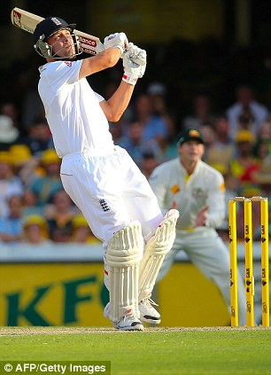 Gone: Trott watches as he is caught in Brisbane