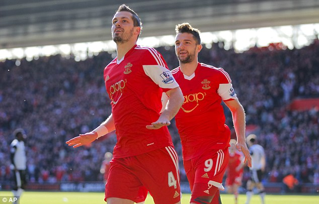 Icing on the cake: Southampton's Morgan Schneiderlin adds a goal to his excellent defensive midfield game