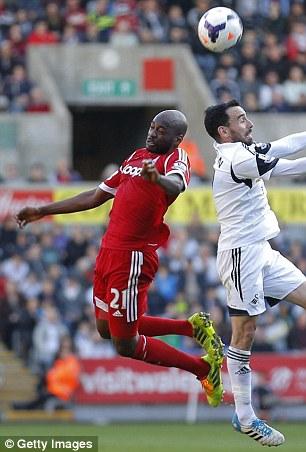 Youssouf Mulumbu gets up high