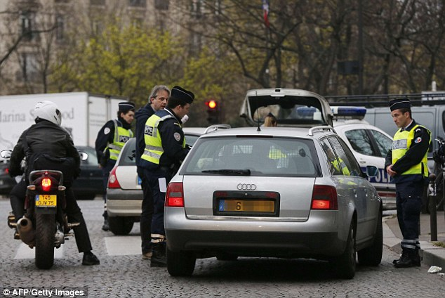 The checkpoints caused traffic jams across the capital as many drivers decided to risk a fine and drive their car despite the restrictions