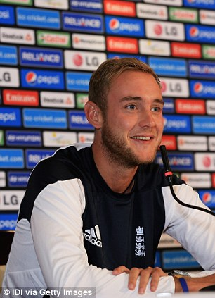 Talking a good game: Broad in his press conference