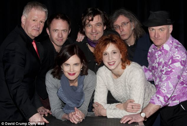 Elizabeth with hr band, Sadie and the Hotheads at the Theatre Royal Norwich