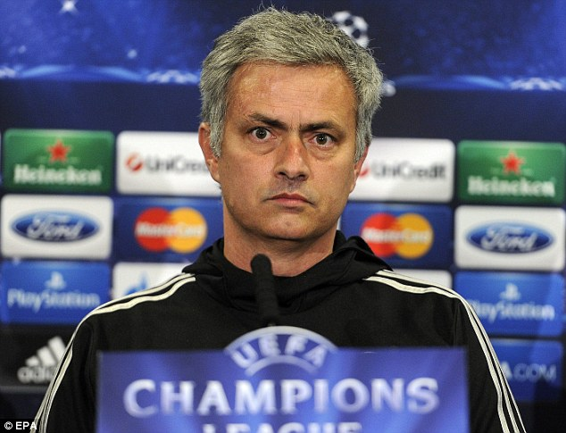 Death stare: Mourinho said he would not go for the dinner with Mancini after the match