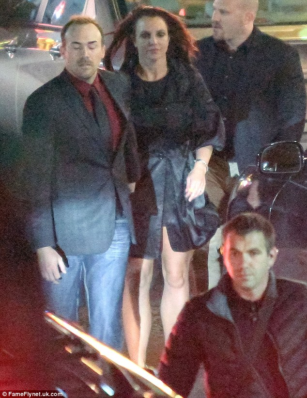 Pre-gaming: On the Thursday evening, Britney and David showed up to the rehearsal dinner together with the singer showing off her legs in a tiny black dress
