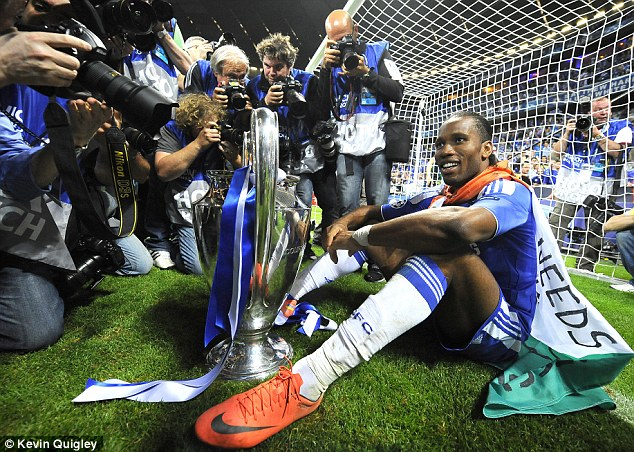 History boy: Drogba was instrumental in Chelsea's Champions League win over Bayern Munich in 2012