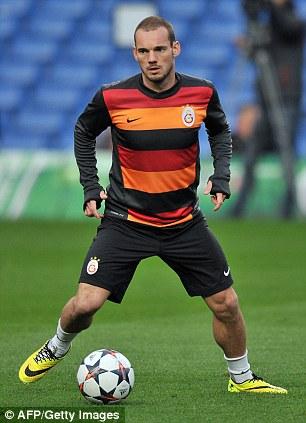 Sneijder at Stamford Bridge on Monday night
