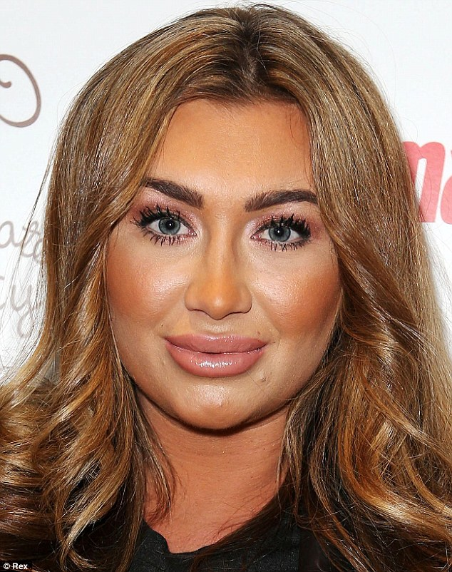 Transformation: Lauren Goodger denied speculation that she may have had surgery after these recent photos at a charity event in London