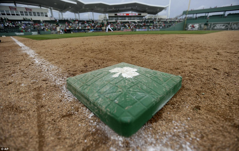 Fort Myers fits in: The St Patrick's Day theme made it as far south as Florida, and an exhibition game involving the Boston Red Sox