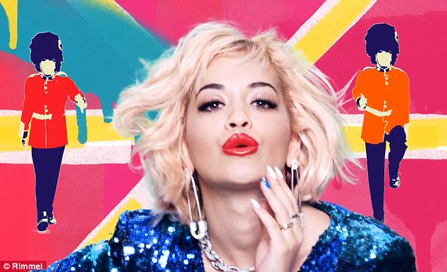 Colourful: Rita has created twelve new nail varnish colours based on the beauty brand's existing Rimmel 60 Seconds Nail Polish range