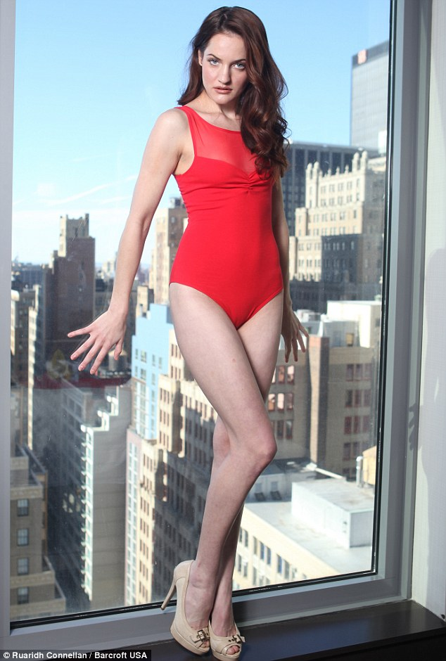 Career ambitions: The 5ft 8in brunette says her dream is to appear on a giant billboard in Times Square