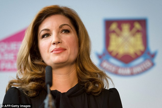 Service: West Ham United vice-chairman Karren Brady was given the investiture partly for repeatedly calling on her fellow female professionals to encourage one another in the business world