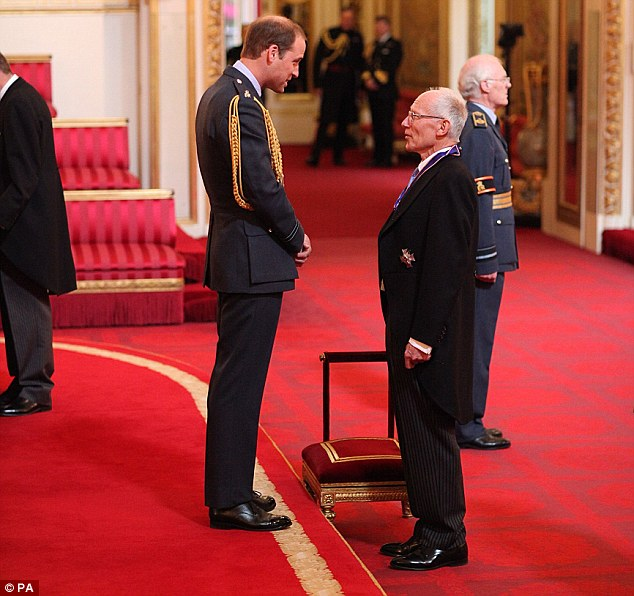 Familiar face: Sir Marcus Setchell - the obstetrician who delivered the Duke of Cambridge's son Prince George - was today made a knight commander of the Royal Victorian Order