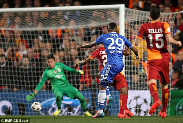 Prolific: The goal was the African forward's 30th strike in the Champions League