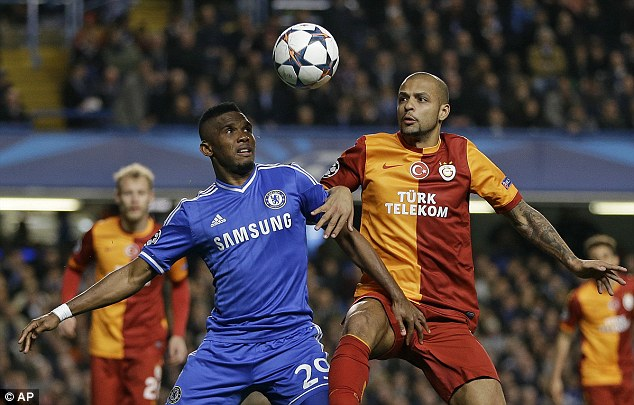 One step ahead: The likes of Felipe Melo were unable to contain Chelsea's hitman Eto'o