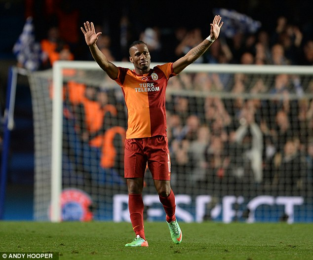 Old hero: Didier Drogba was greeted warmly by the Chelsea fans on his return to Stamford Bridge